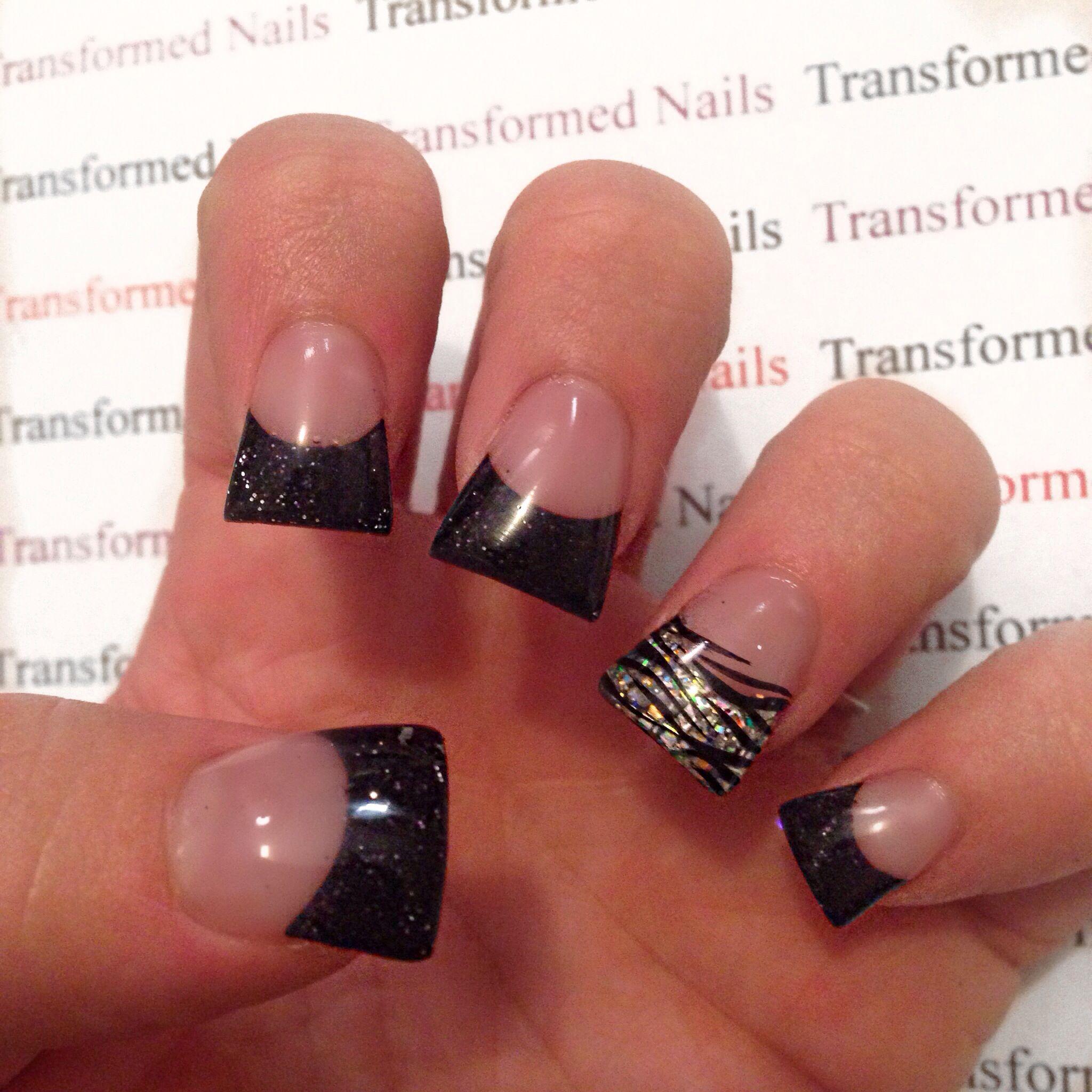 Flared Acrylic Nails Flare Nails Flare Acrylic Nails Zebra Nails