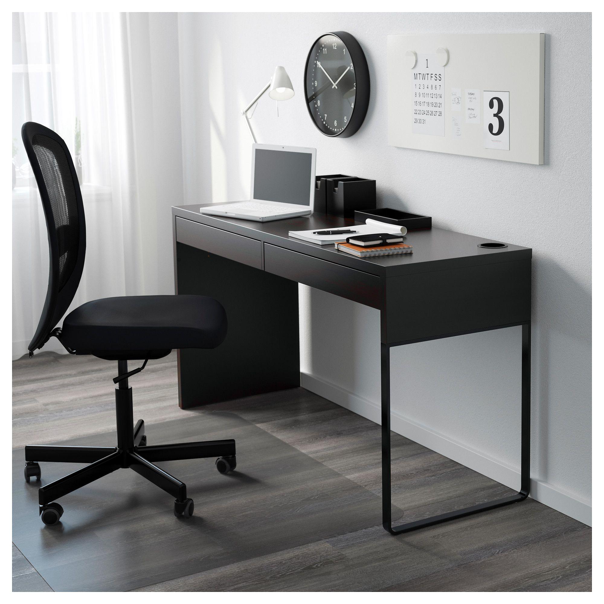 IKEA MICKE Desk blackbrown Micke desk, Ikea small