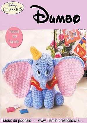 Dumbo - free pdf pattern (written in French)   Craft Ideas ...