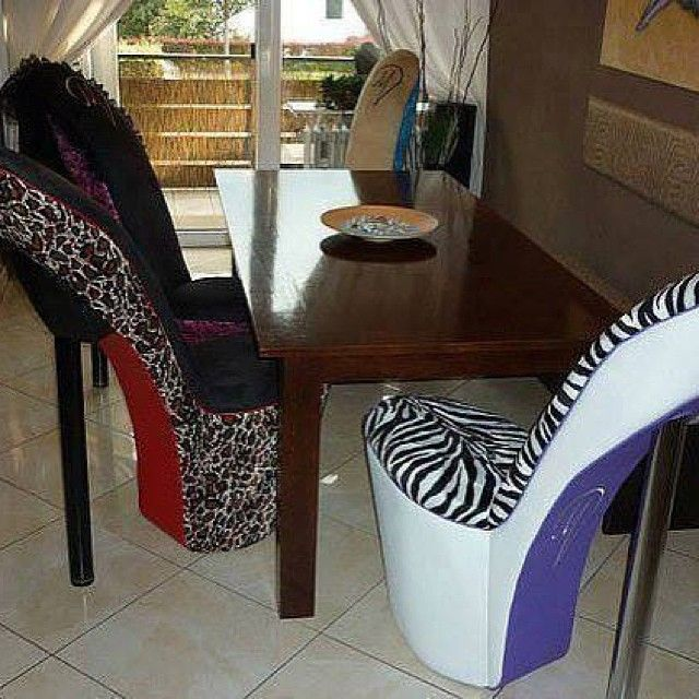 High Heel Shoe Furniture Chair Sling Lounge Outdoor Chairs Too Cute For The Office Pinterest