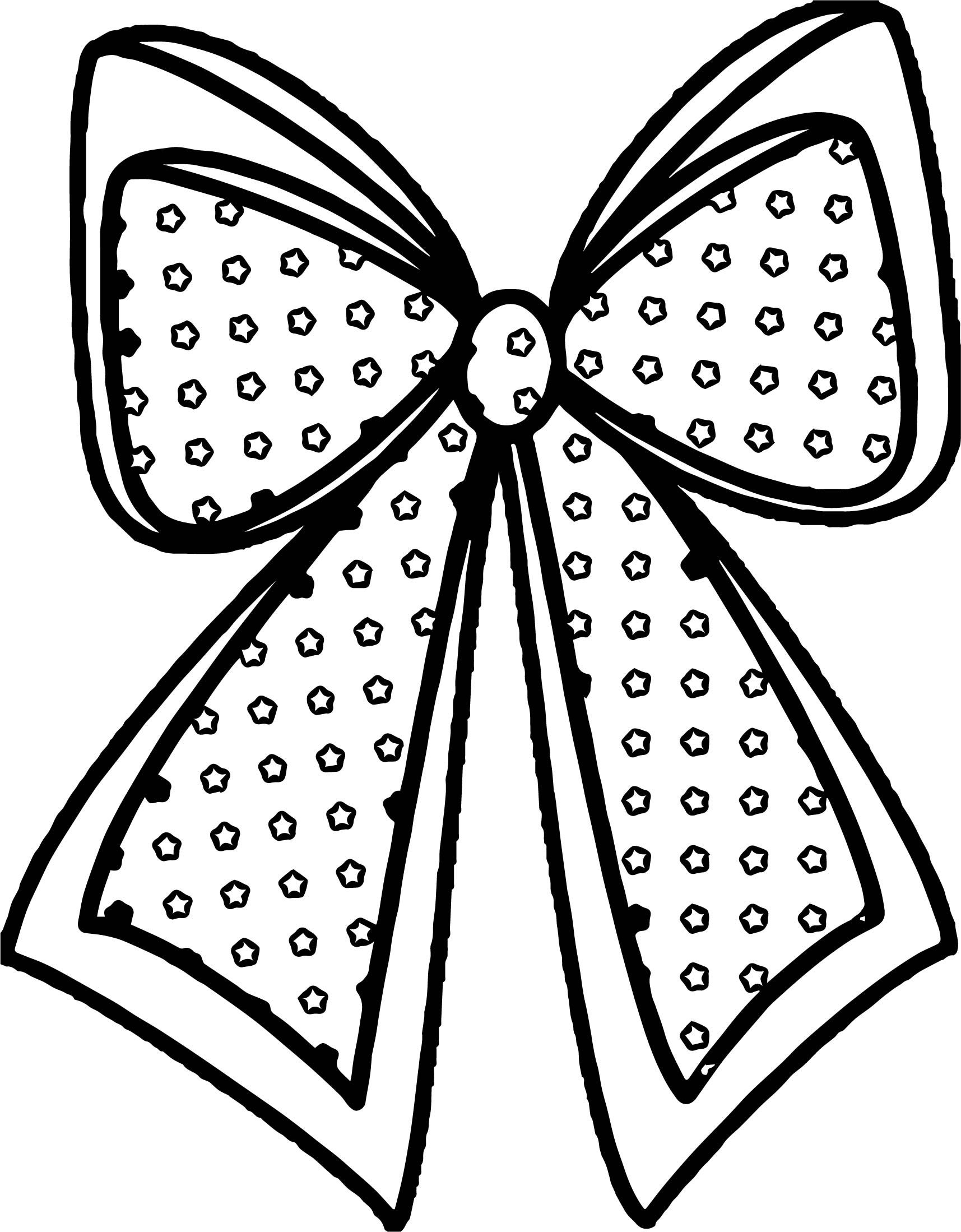 Cool Any Xmas Bow Coloring Page