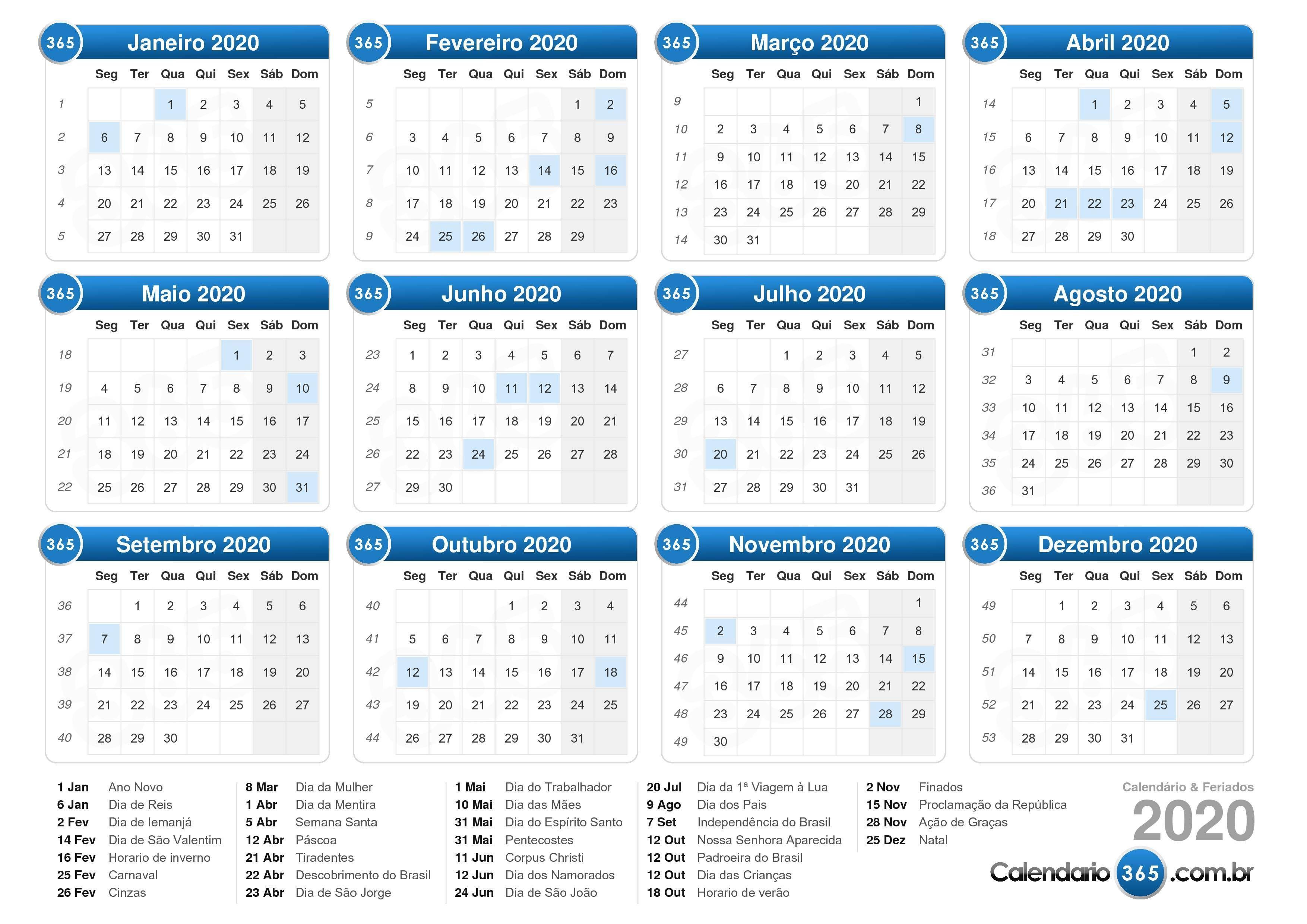 Calendário 2020 Calendário Para Impressão Modelo De Calendário Para Impressão Calendário Gratuito Para Impressão