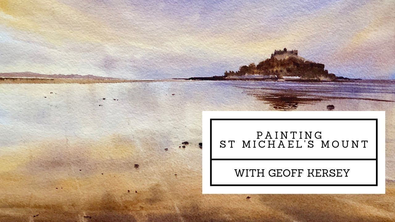 Painting St Michael S Mount Preview Geoff Kersey