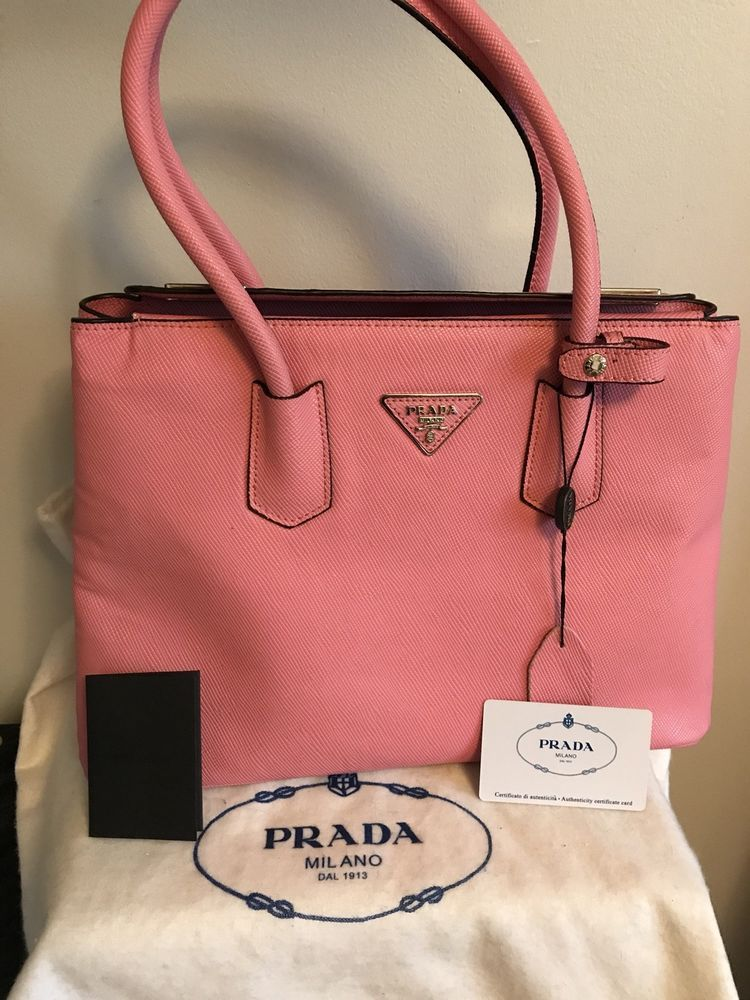 9ba60905892545 Prada Double Saffiano Pink Leather Tote Bag! #fashion #clothing #shoes  #accessories #womensbagshandbags (ebay link)