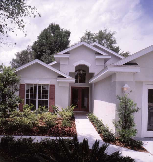 House Plans Mediterranean Style: Delightful One Level Spanish Mediterranean Style Home