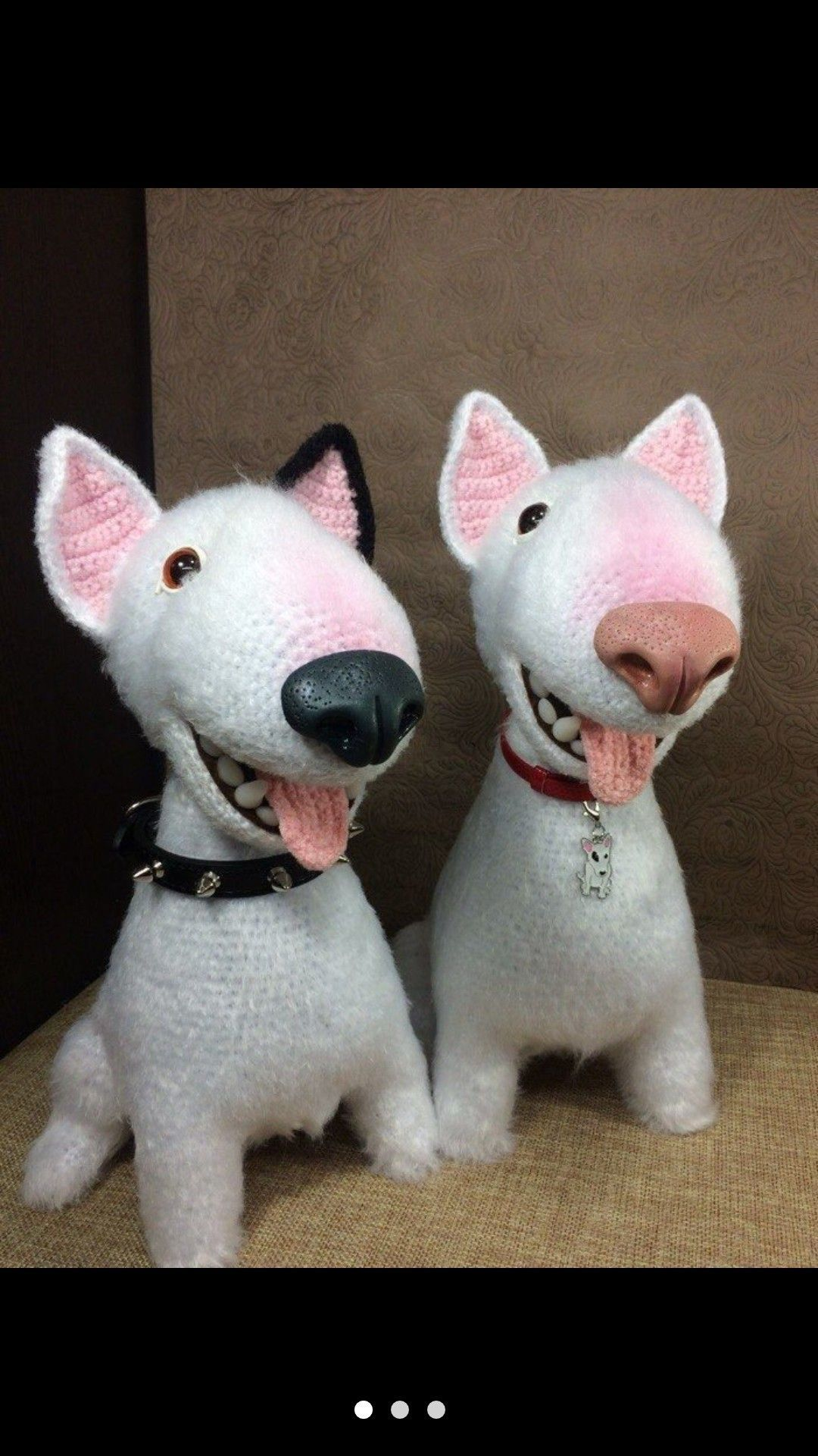 English Bull Terrier Amigurumi Crochet Pet Toy A Copy Of The Pet Dog Toypetdog Bull Terrier Crochet Dog Dog Toys
