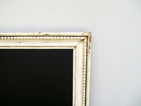 Framed Chalkboard Extra Large in a Chippy White Vintage Wooden Frame ...