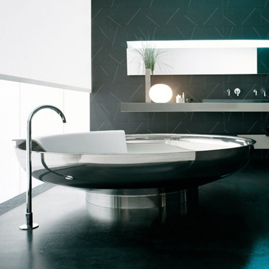 Futuristic Bathrooms Baths  Soleil Round  Systempool S.aporcelanosa Grupo
