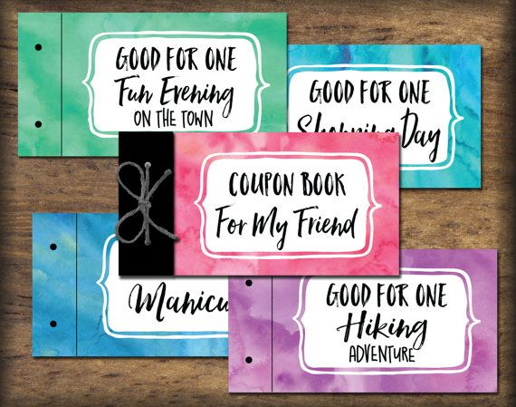 Friend BFF Coupon Book printable Instant download gift idea DIY - Coupon Book Printing