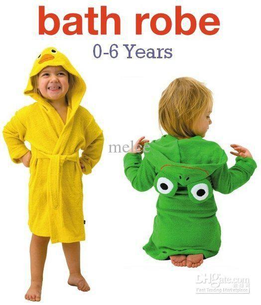 Wholesale Funny Frog Duck Kids Bath Robes Baby bathrobe bathing boys girls robe  bath robe Beach towel blanktet f3e4f12d7