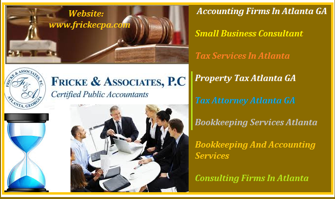 We are prominent tax firm operating in both Atlanta and Georgia. We have highly skilled and professional team of experts to handle all facets of tax issues ranging from property to business. So, if you want your tax litigation to fall in the right hands then our service is always there to serve you. In order to better serve our clients base we are very reasonable with our rates.For more info visit: www.frickecpa.com
