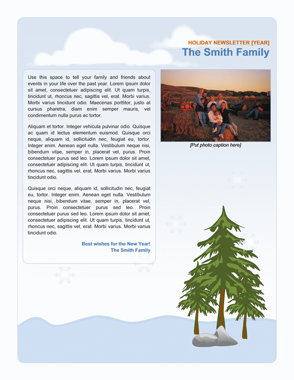 Family Holiday Newsletter  NewsletterEmailtemplates