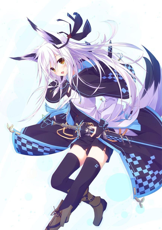 Purple Warrior Fox Girl Anime Www Topsimages Com