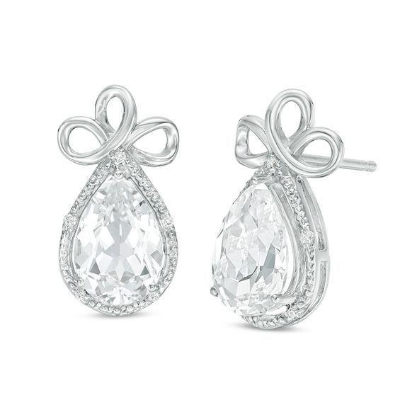 Zales 1/10 CT. T.w. Diamond Leaf Cutout Medallion Drop Earrings in Rose IP Stainless Steel V6e01ddN