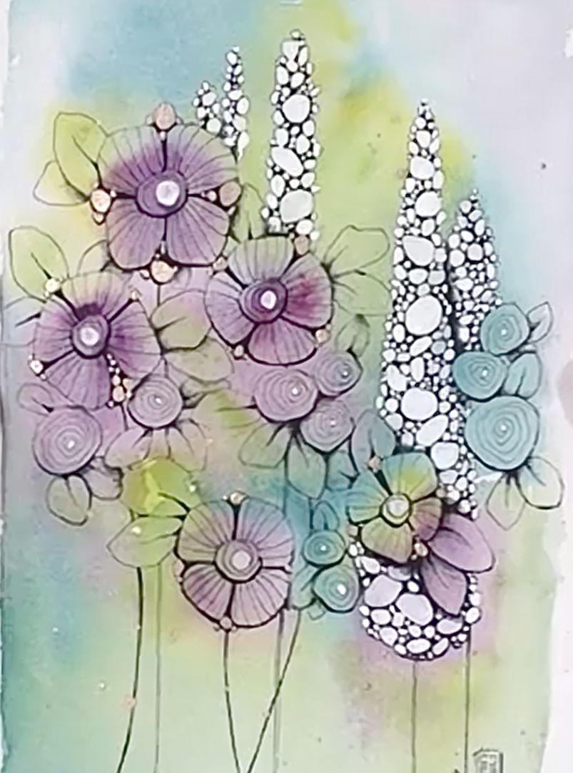 10.5 x 14.8 cm A6 Beautiful Wild Flower Watercolour Print