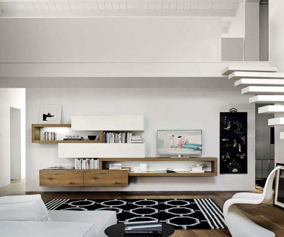 Schwebende Design Wohnwand C25   Einrichtungsideen   Pinterest ...