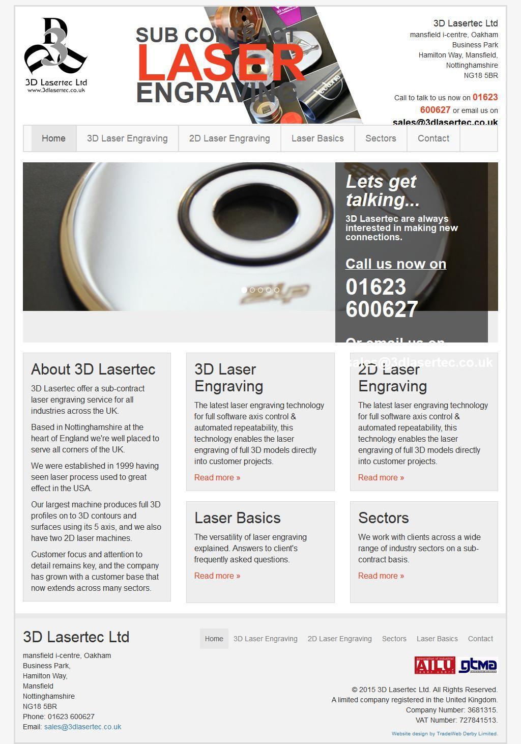 3D Lasertec Ltd Engraving Mansfield I Centre/Oakham