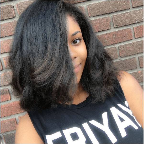 Simply Gorgeous Straight Natural Style Ig Styleoptimist Naturalhairmag Natural Straight Hair Straightening Natural Hair Straight Hairstyles