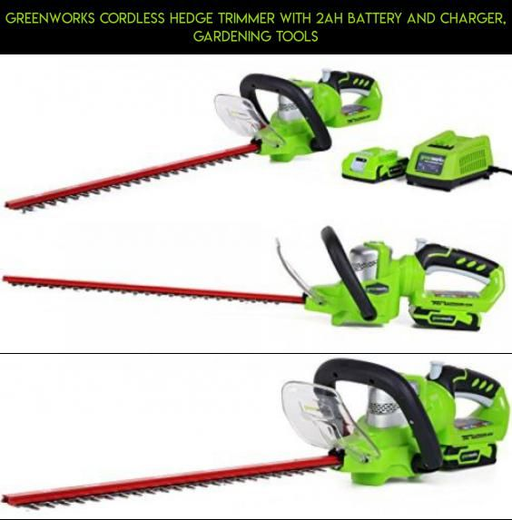 GreenWorks Cordless Hedge Trimmer with 2AH Battery and Charger ...