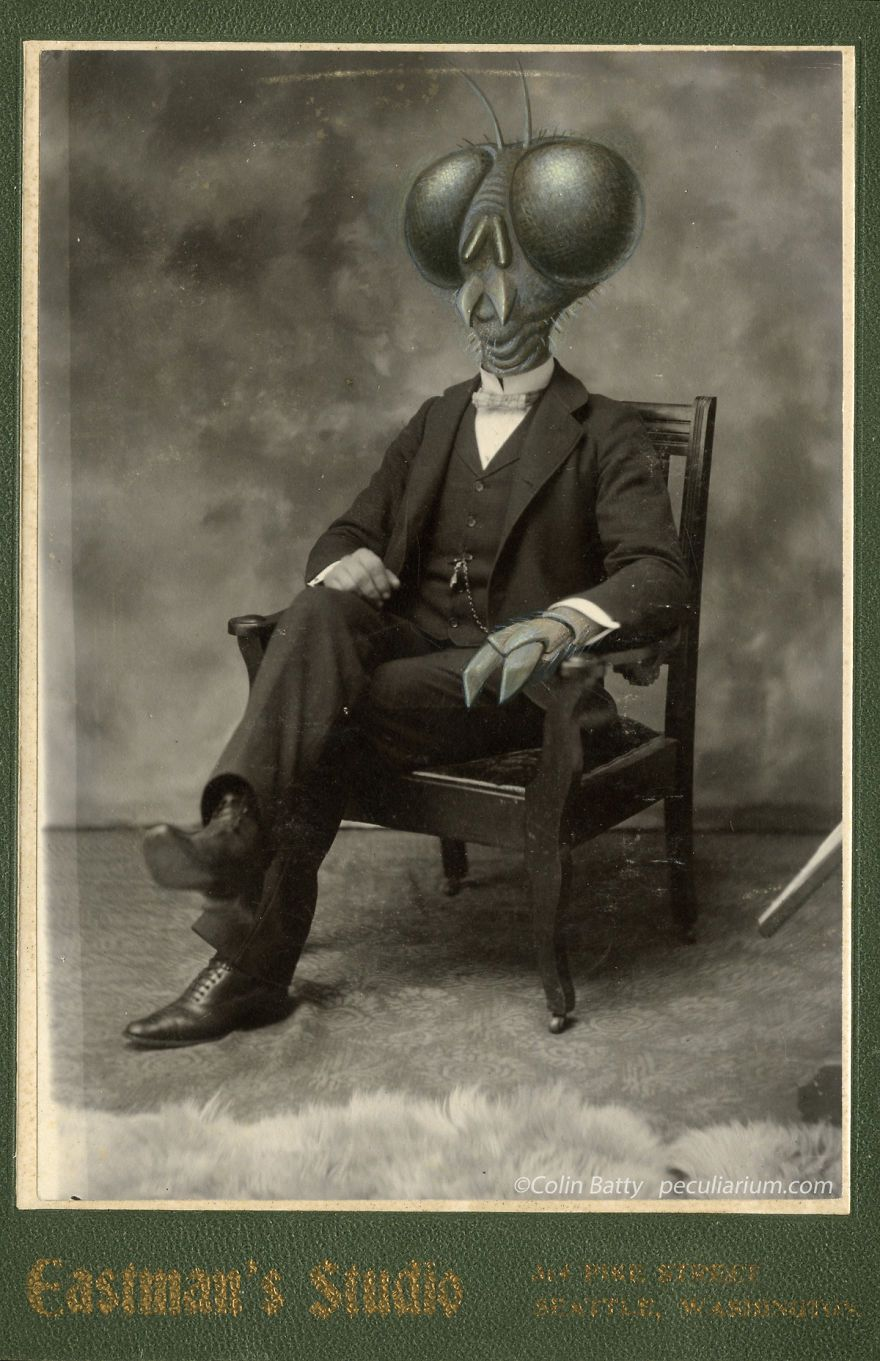 Meet The Family: A Series Of Altered Cabinet Cards From 1900s | Bored Panda