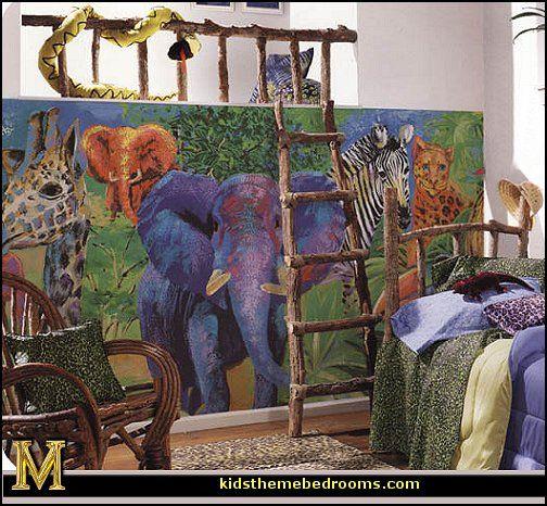 tropical rainforest jungle theme - rustic treehouse ...