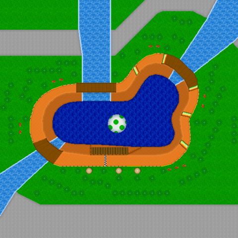Ds Yoshi Falls Track Outline From Mario Kart Wii Mario Kart Wii