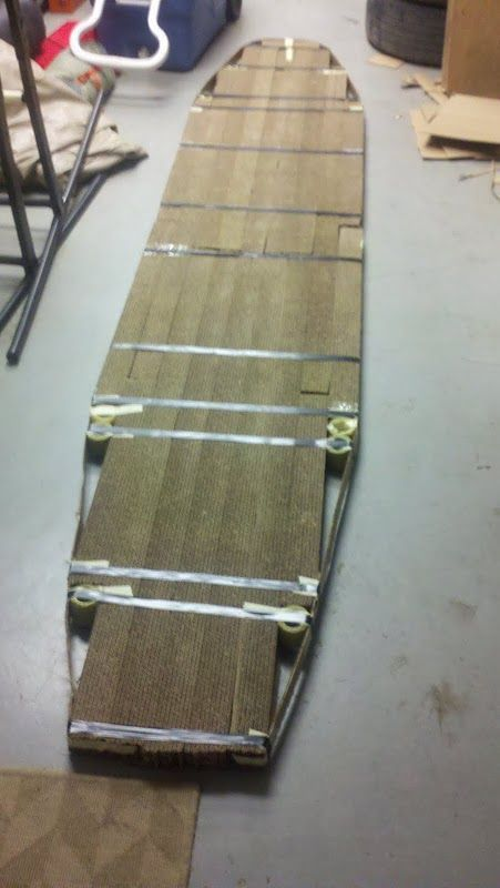 Cardboard Stand Up Paddleboard | Paddle boarding, Stand up ...