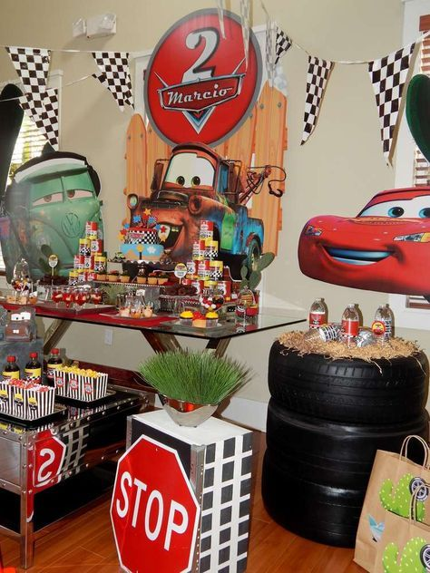 Disney Pixar Car Theme Birthday Party Ideas