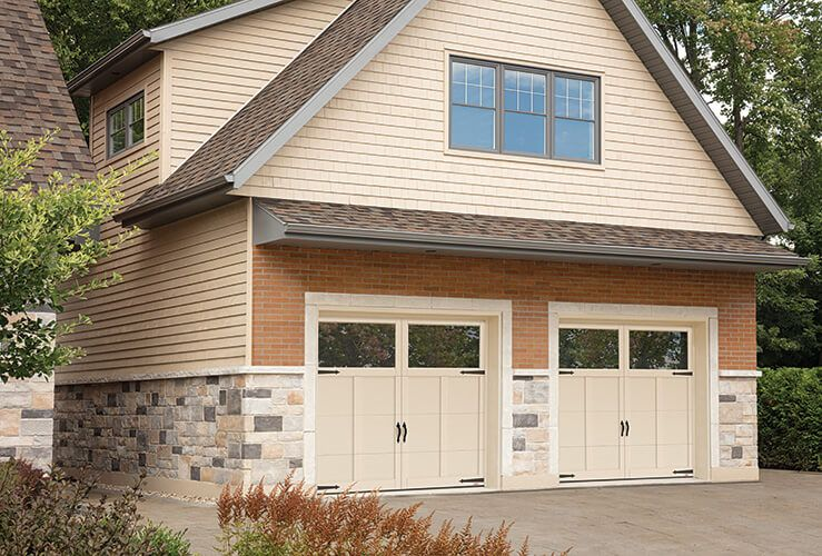 Garaga Princeton P 12 9 X 7 Desert Sand Doors And Overlays Clear Panoramic Windows Residential Doors Doors Garage Doors