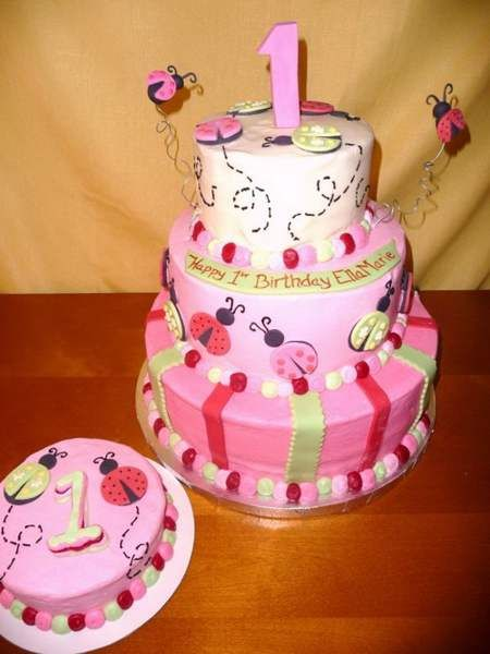 Cute Cakes For A 1 Year Old Baby Girl Pink And Yellow