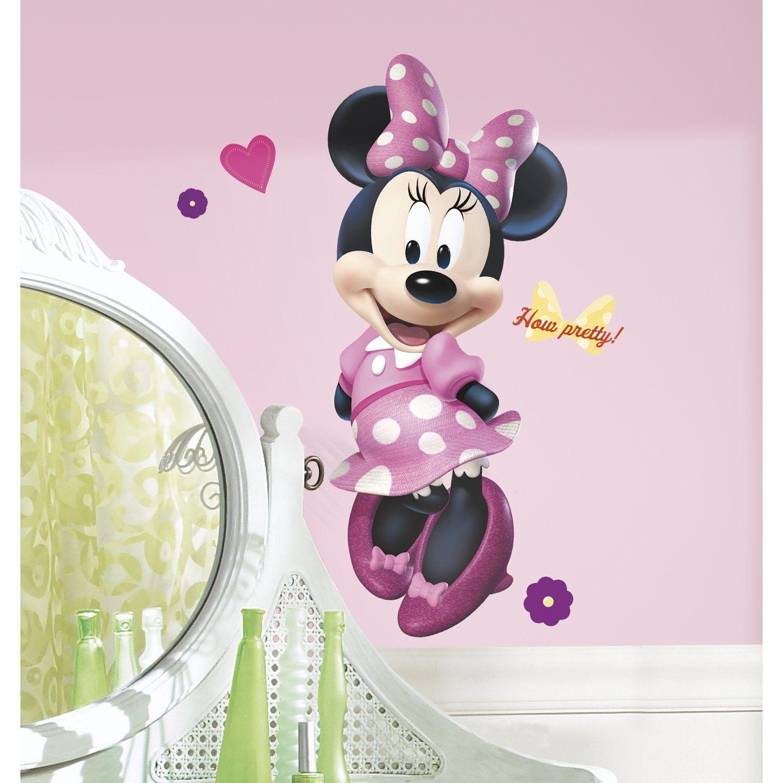 Minnie Mouse Bow-tique Wall Decal | Recamaras de niñas, Recamara y Bebe
