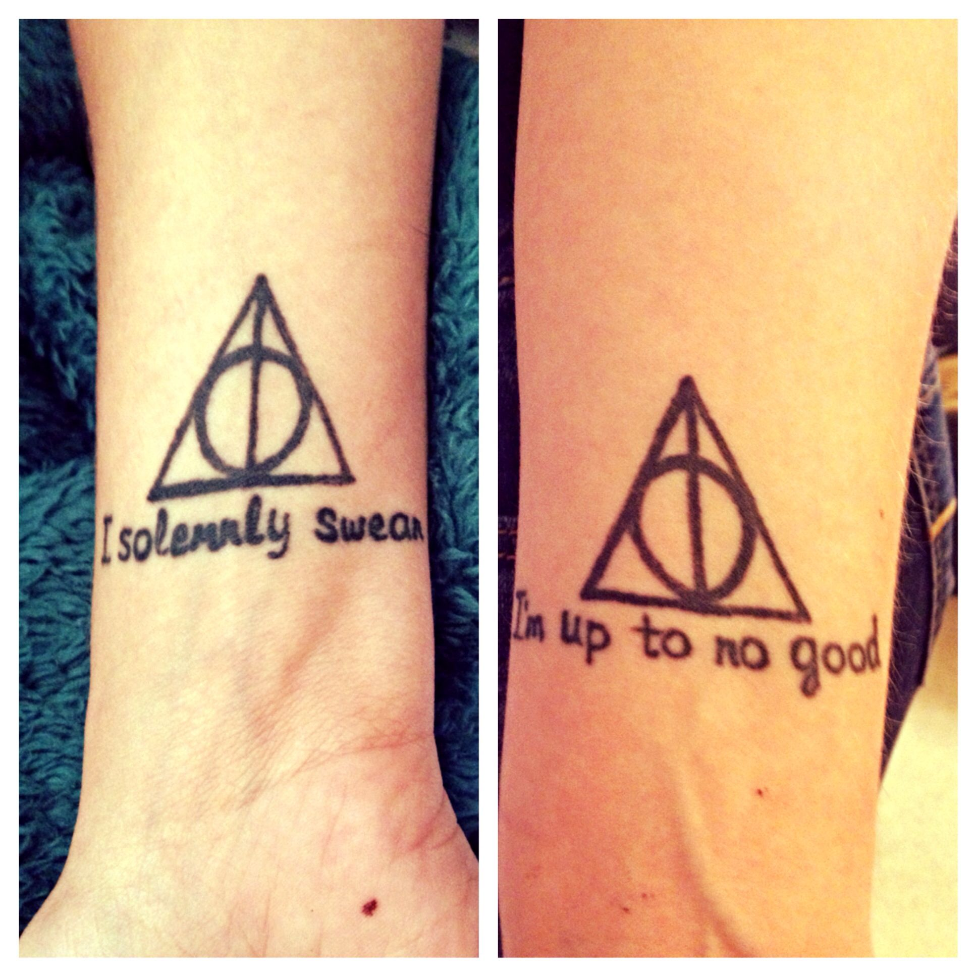 Harry Potter Tattoos My Lovely Sister And I Matching Harry Potter Tattoos Harry Potter Tattoos Sister Tattoos
