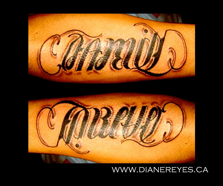 ambigram tattoos Family Forever Ambigram Tattoo