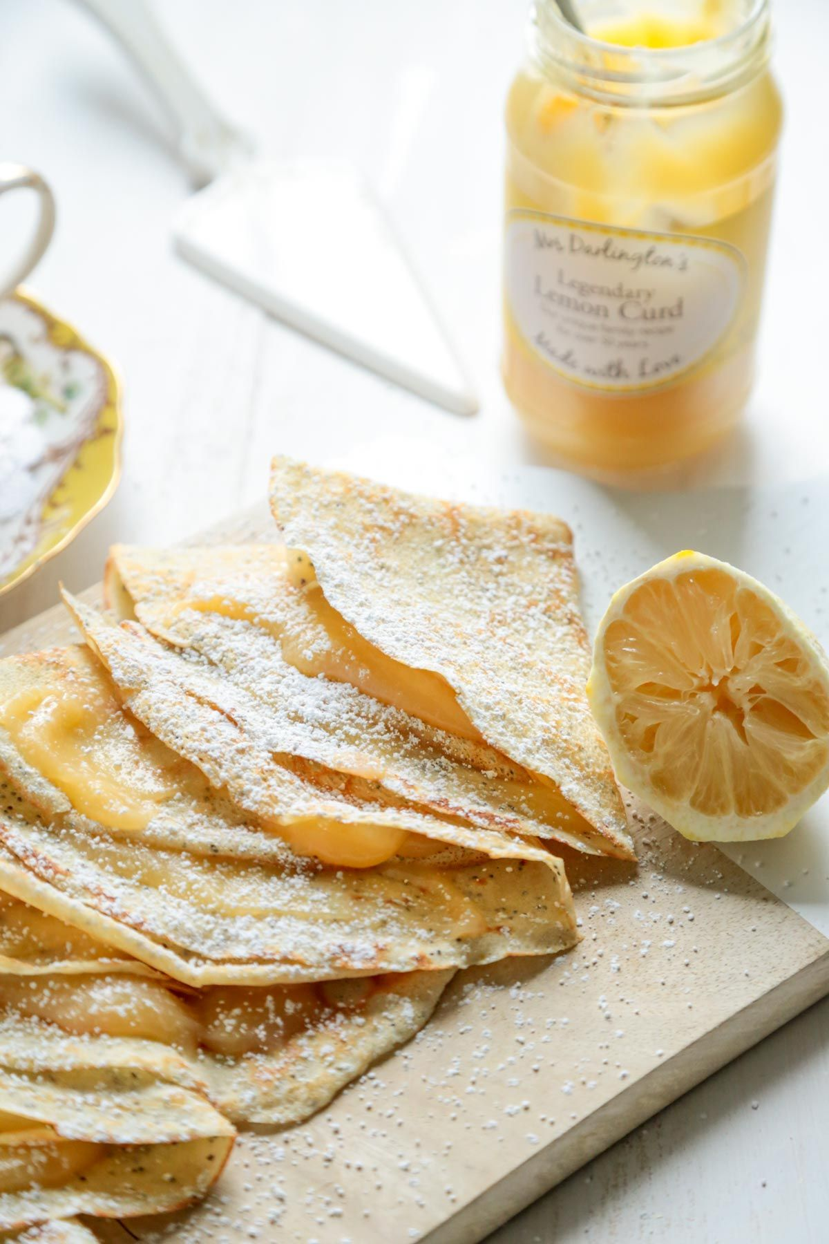 Lemon Poppyseed Crepes with Lemon Curd - And NO Fancy Pans Required! - www.countrycleaver.com
