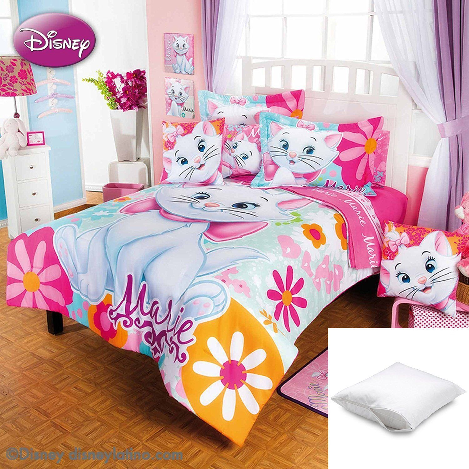 Disney Marie Flores 6 Pc Comforter Set Twin Bundled With One Pillow Protector Price 132 81 Free Shippi Comforter Sets Disney Bedding Sets Kids Comforters