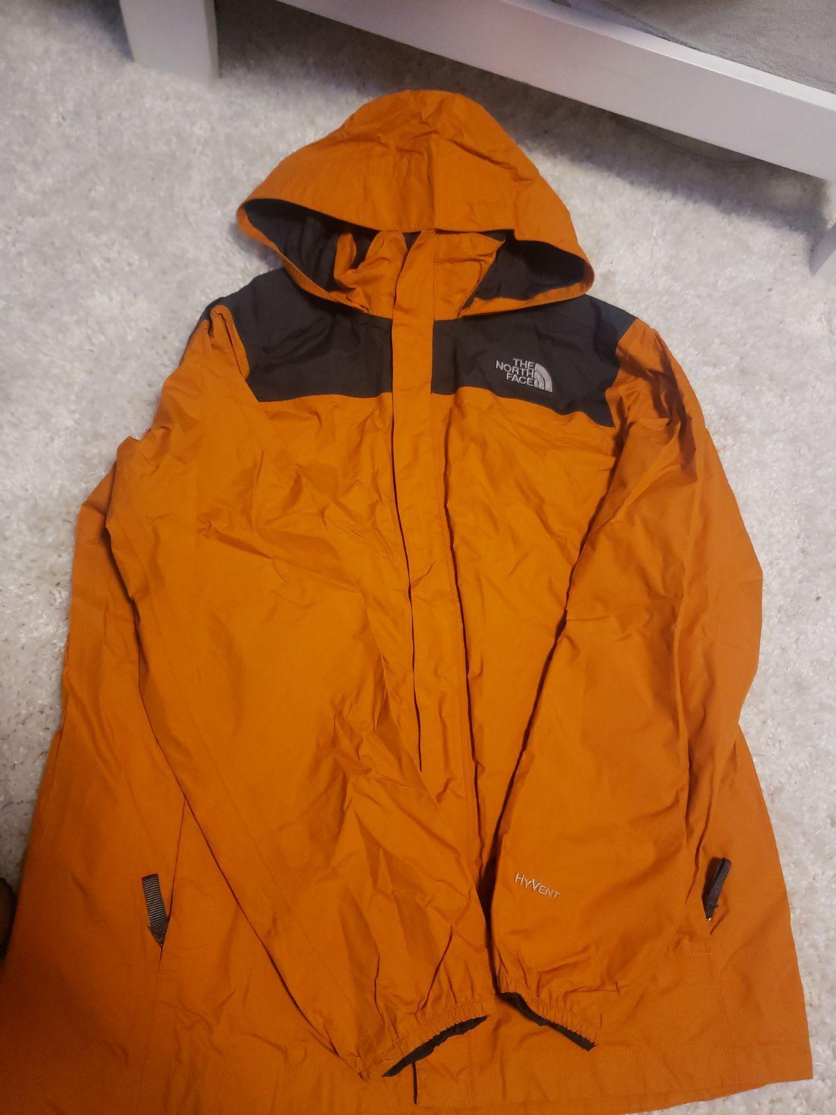 Boys Xl Northface Windbreaker Jacket Orange And Grey Good Used Condition North Face Coat Windbreaker Jacket Jackets [ 1600 x 1200 Pixel ]
