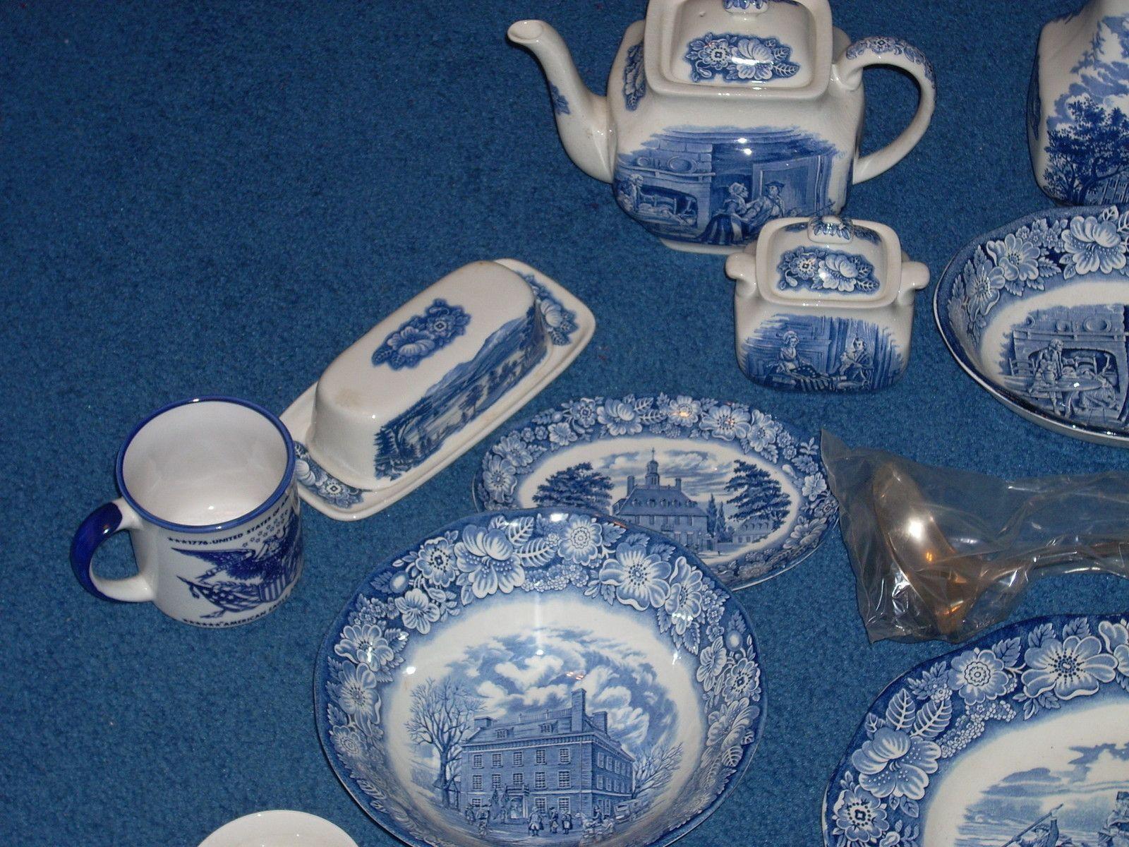 Liberty Blue Bicentennial Staffordshire China Complete Set ...