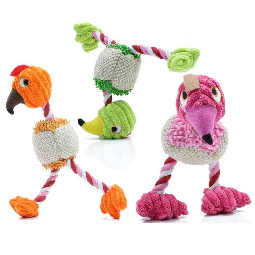 Plush Bird Dog Toy Orange My Dogs Cute Dog Toys Interactive