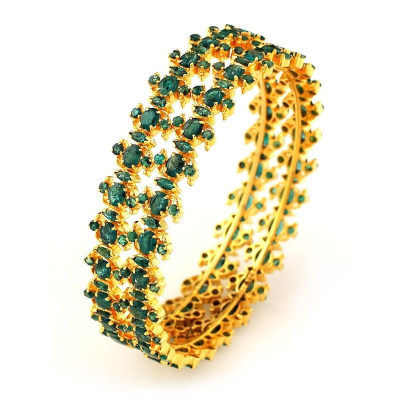 Emerald Traditional South Indian Bridal Emerald Bangle