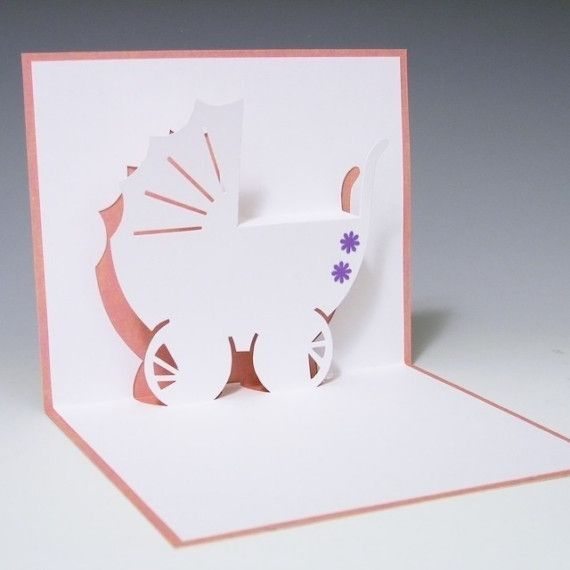 Carriage For Baby Pop Up Card Pop Up Cards Cards Cards Handmade