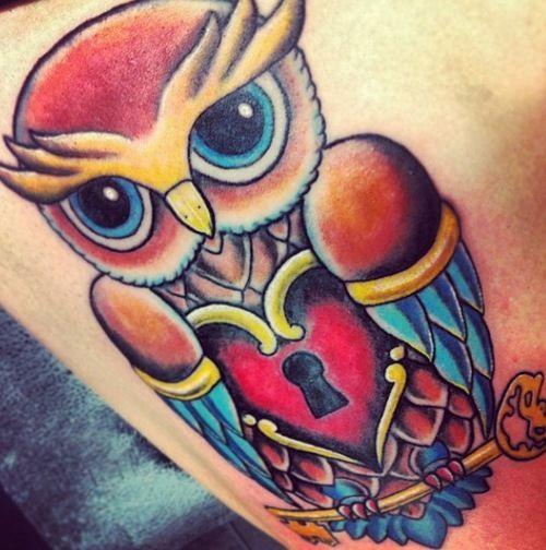 Owl tattoo awesome tattoos pinterest tattoo tatting for Owl heart tattoo