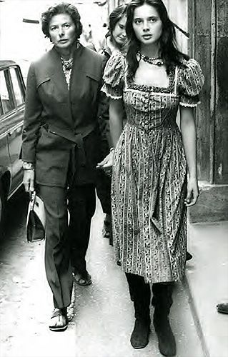 Ingrid Bergman and Isabella Rosselini