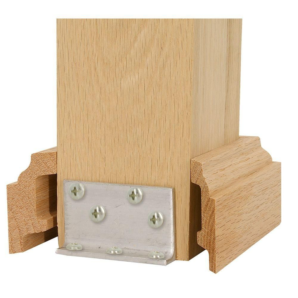 Best Stair Parts 5 In Unfinished Poplar Box Newel Attachment 400 x 300