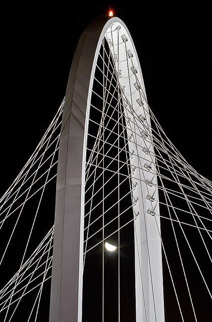 Santiago Calatrava Bridge in Dallas, Texas!