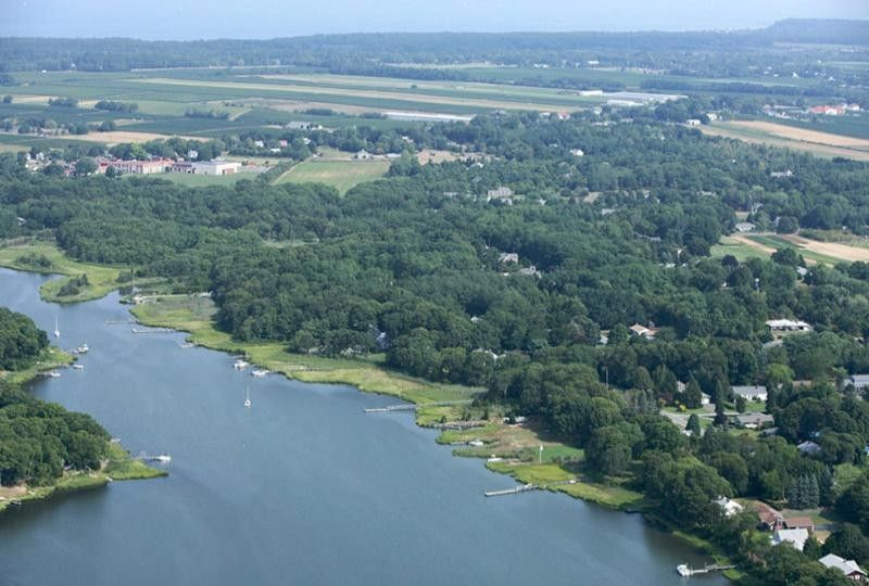Aerial view of East Creek, Cutchogue, NY Aerial view