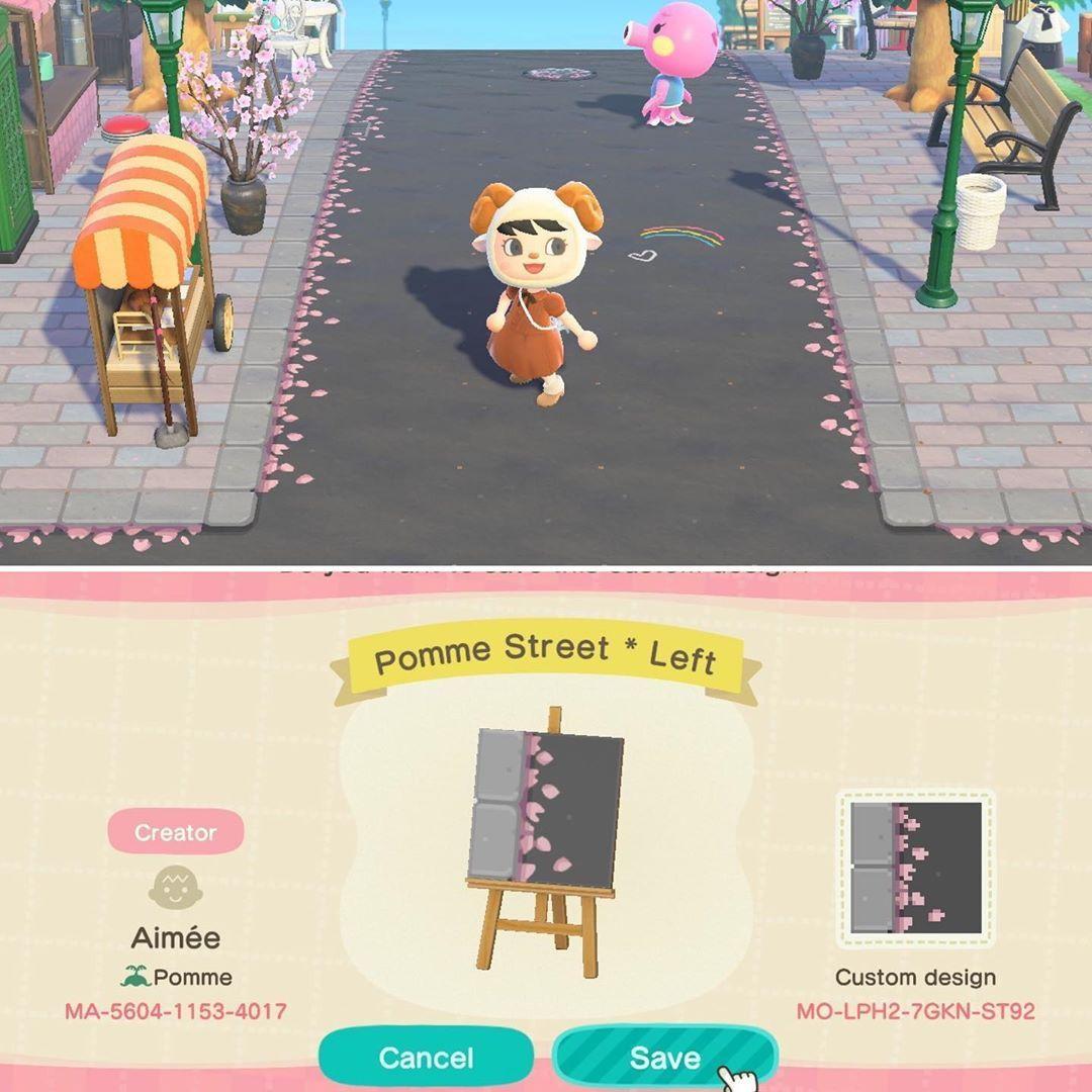Animal Crossing On Instagram Street With Cherry Blossoms C Twitter Aimeeueda Animal Crossing New Animal Crossing Japanese Animals