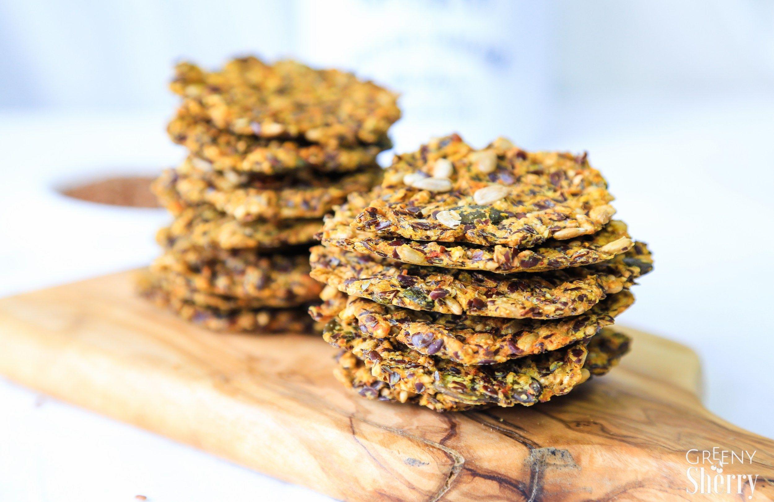 glutenfreie leinsamen cracker rezept vegan pinterest. Black Bedroom Furniture Sets. Home Design Ideas