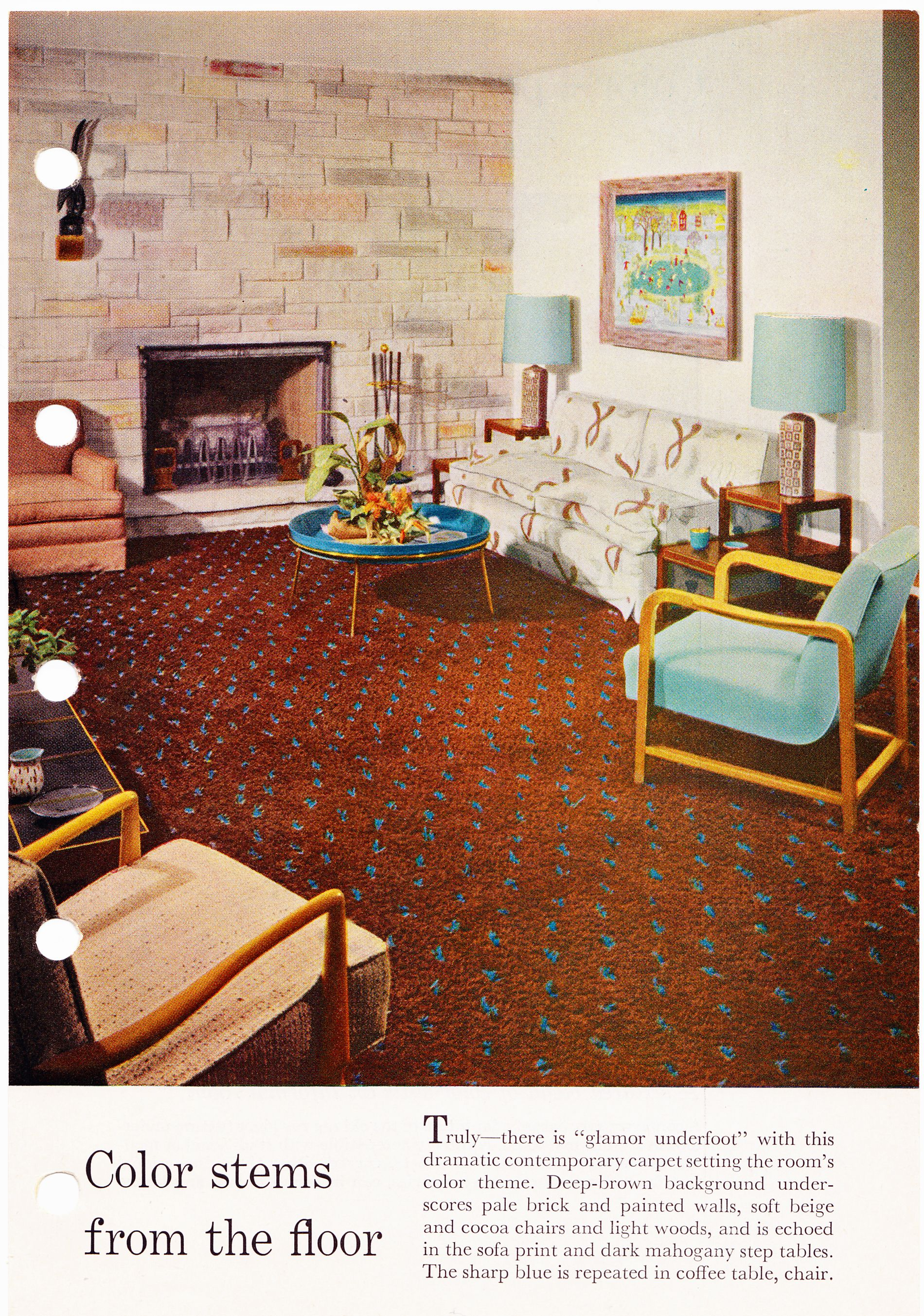 Better Homes & Gardens Decorating Book, 1956, Page 209 - This carpet ...