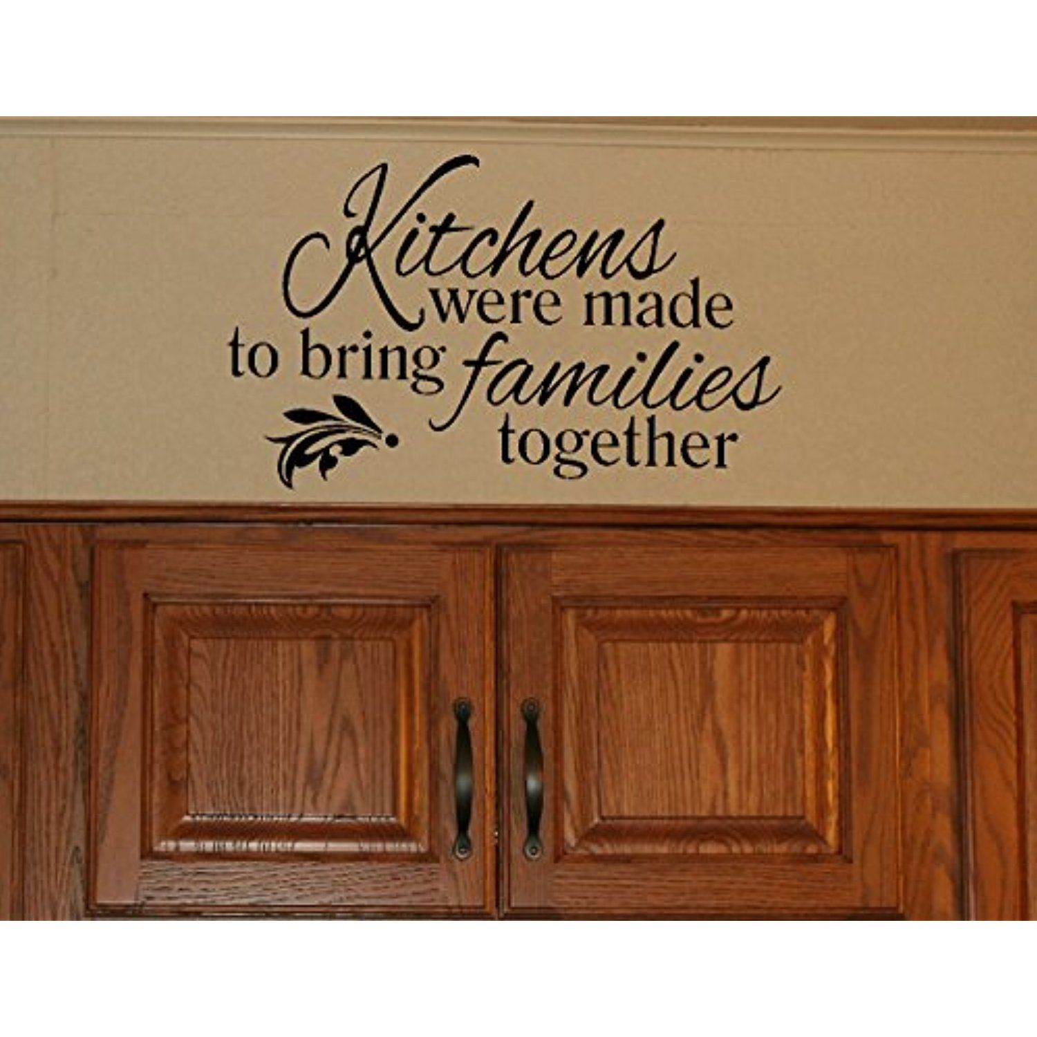 wall decor plus more wdpm3186 kitchens were made to bring families together kitchen wall decal on kitchen decor quotes wall decals id=12831