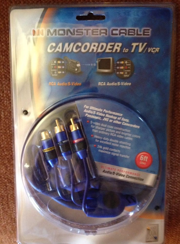Monster Cable J2 Camav 6ft Camcorder TV VCR Composite Video RCA Connector Gold | eBay